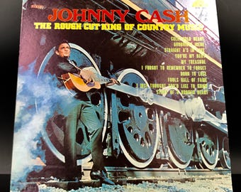 JOHNNY CASH VINYL Record - The Rough Cut King Of Country Music - Rare Vintage Original Vinyl Record - Awesome Condition! - Great Gift!