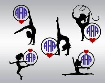 Gymnast svg, Gymnastycs svg, Gymnast clipart, Gymnast silhouettes, Gymnastic svg, Cricut, Cameo, Cut file, Clipart, Svg, DXF, Png, Pdf, Eps