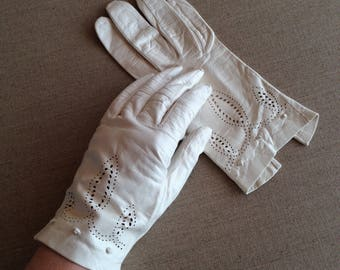 Vintage French womens leather gloves