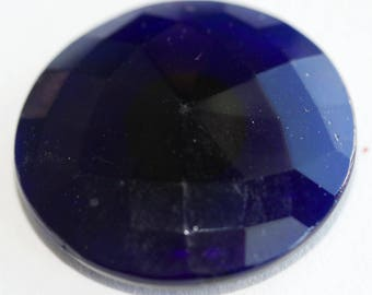 Dark Blue Faceted Glass