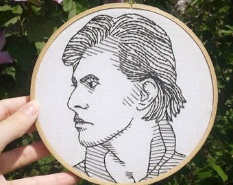 David Bowie Handmade Embroidery Wall Art