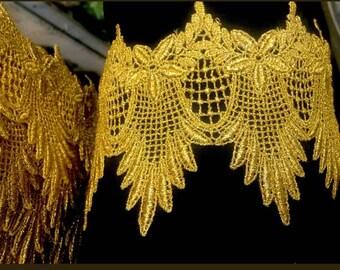 Venice lace metallic gold.