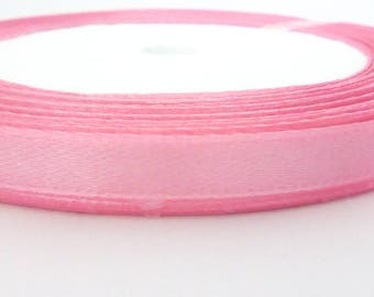 1 m deep pink satin ribbon