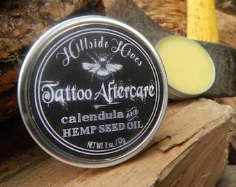 Tattoo Aftercare Salve- Calendula and Hemp Seed Oil- 2 oz.