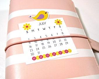 Planner Die Cut Calendars - TN Calendars - Planner Calendars - Bird Die Cuts - Planner Die Cut