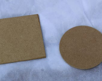 MDF Coaster Blank - Round or Square