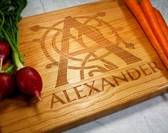 Personalized Kitchen Gift - Custom Cutting Board - Monogram - Wife - Anniversary Gift - Wedding Gift - Fiance - Housewarming - New Home
