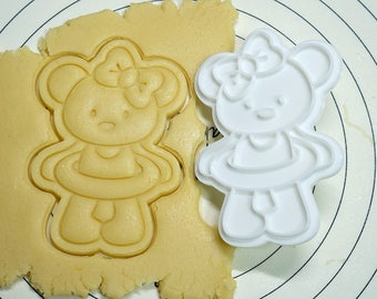 Bear with Rubber Ring Cookie Cutter and Stamper