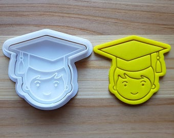 Graduation (Boy) Cookie Cutter and Stamp