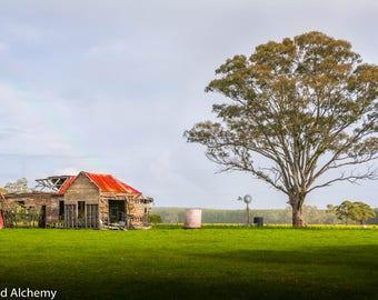 Abandoned farmhouse color photo
