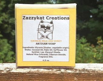 Oatmeal Milk and Honey Soap, Milk and Honey Soap, Organic Artisan Soap, Luxury Soap, Handmade Vegan Soap, Natural Soap, Artisan Soap