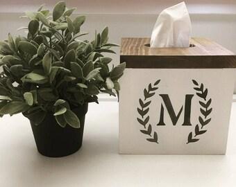 Farmhouse Tissue Box Holder | Farmhouse Series | Home Decor Piece