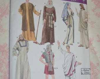 Simplicity 4213 Adult Biblical Nativity Costumes and Helmet in Three Sizes Costumes Sewing Pattern - UNCUT  - Size XS S M L XL