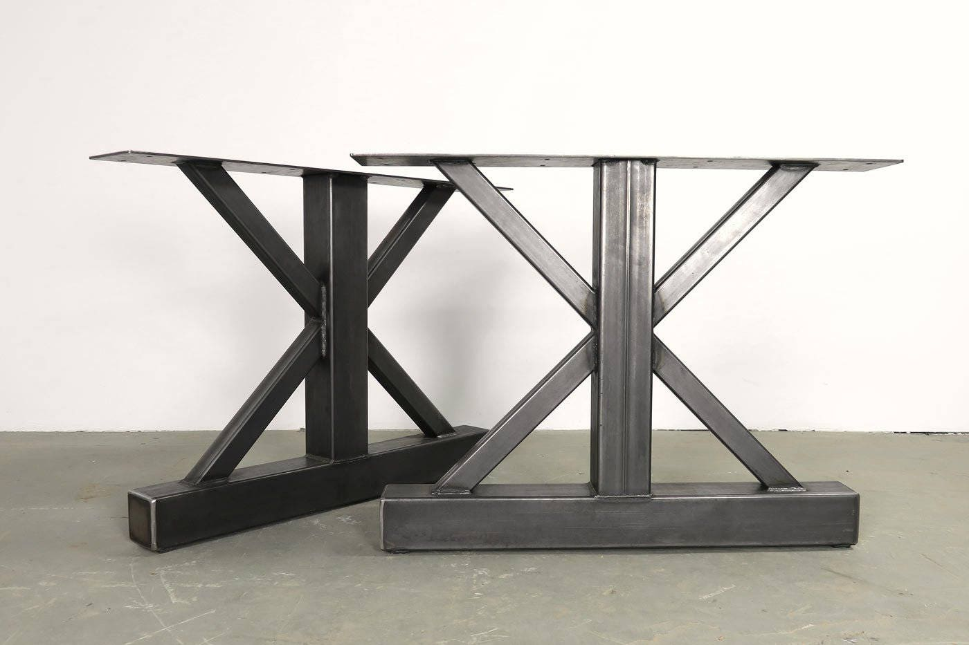 Metal table legs trestle style metal legs industrial table Metal table base