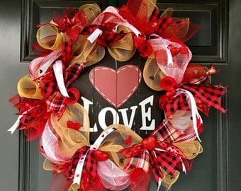 Valentines wreath, Heart wreath, Valentines Day wreath, valentines day, Valentine's Day wreath, valentine wreath, valentines decor