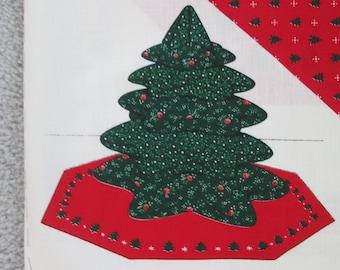 Mini stuffed Christmas tree fabric kit