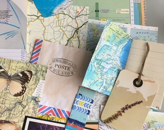 Map journal etsy vintage map journal pockets collage vintage maps atlas pages world atlas gumiabroncs Choice Image