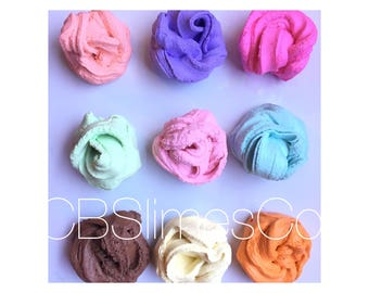 Scented Butter Slime, Non-Borax Slime, Non Toxic Slime, Pick up your Color and Scent