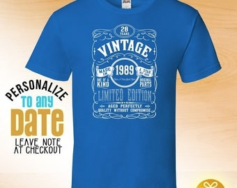Vintage since 1989, 29th birthday gifts for Men, 29th birthday gift, 29th birthday tshirt, gift for 29th Birthday ,