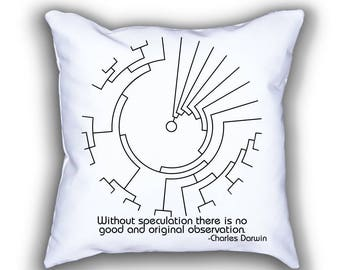 Darwin and Phylogenetic Tree pillows