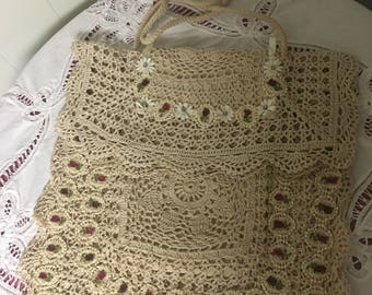 Beautiful handmade doily purse