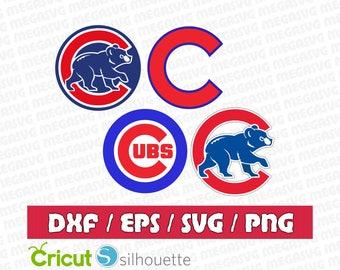 Chicago Cubs Svg Dxf Eps Png Cut File Pack