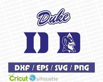 Duke Blue Devils logo SVG - Vector Design in Svg Eps Dxf Jpeg Format INSTANT DOWNLOAD