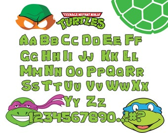 TMNT font svg|TMNT alphabet svg|TMNT letters svg,dxf,png for Print/Silhouette Cameo/Cricut and Many More