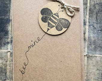 Bumble bee card - valentines card, be mine card, anniversary card, love card, proposal card