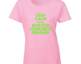 Boston Concrete Finisher T Shirt