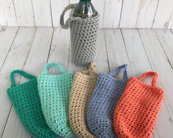 Water bottle holder / Crochet water bottle holder / Bottle cozy / Back to school/ Water carrier / Bottle carrier / Water bottle cover / Gift