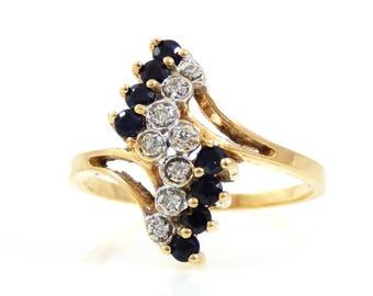 Sapphire & Diamond Ring 10K Gold - X2123