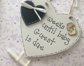 New baby personalised countdown plaque, countdown plaque, baby due date, birth announcement, pregnancy countdown, gender reveal
