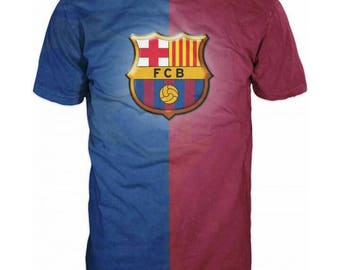 New ultramodern 3D  High Quality  Print Fans Barcelona short Sleeve t-shirt