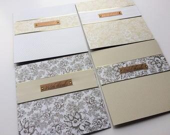 Elegantly Grateful Golden Thank You Cards
