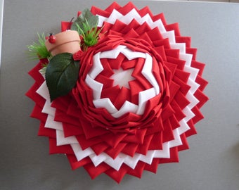 Decorative hat made of triangles