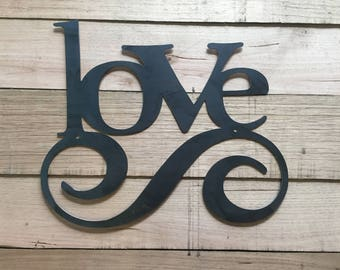 Love word wall hanging