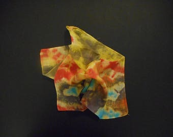 Hand-Dyed Handkerchief. The Big Dandy Hanky Shop. Originl Design, Hand-Dyed Handkerchief. Lovely, Stylish, Colorful, Pocket Square.