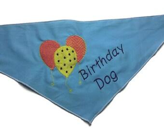 Birthday dog pet bandana personalized medium dog neck tie