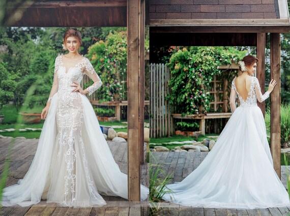 Detachable Skirt Overlay Custom Bridal Overskirt Tulle