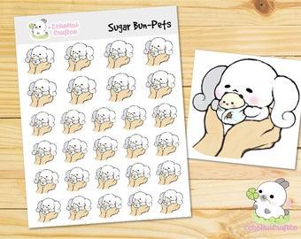 PET/ Pet Care Sugar Bun the Bunny Emoji/ Emotions Planner Stickers