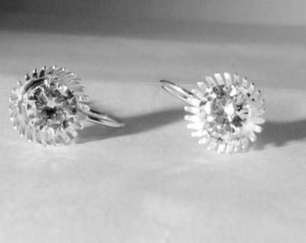 Silver Aster Drop earring