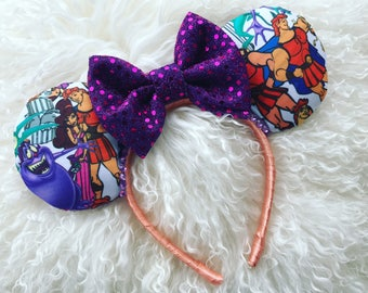 The Mighty Hercules - Disney Inspired Minnie Mouse Ears. Hercules