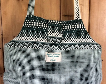 Hand printed heavy cotton shoulder bag