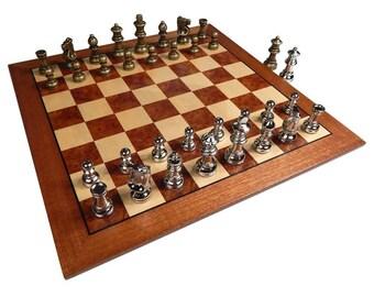 Metal chess set Etsy