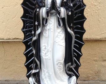 Day of the Dead Virgin Mary Guadalupe resin statue catrina Dia de Los muertos rockabilly tattoo pinup goth decor
