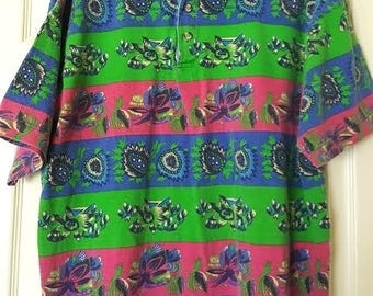 Retro 90's Tribal Collared Shirt