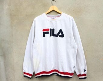 Vintage Fila  Big Logo Sweatshirt Large