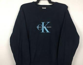 90s Calvin Klein Sweatshirt Vintage Crewneck Calvin Klein Vintage Size M