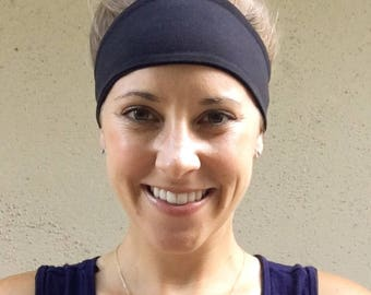 Black Headband, Fitness Headband, Fashion Headband, Yoga Headband, Workout Headband, Handmade Headband, Stretch Headband